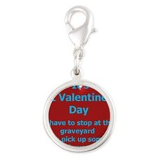 St Valentines Day Card.gif Silver Round Charm