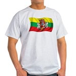 Wavy Lithuania Flag Light T-Shirt