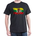 Wavy Lithuania Flag Dark T-Shirt