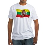 Wavy Lithuania Flag Fitted T-Shirt