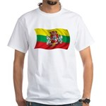 Wavy Lithuania Flag White T-Shirt
