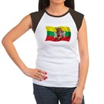 Wavy Lithuania Flag Women's Cap Sleeve T-Shirt