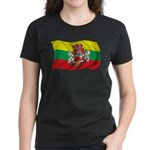 Wavy Lithuania Flag Women's Dark T-Shirt