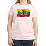 Wavy Lithuania Flag Women's Light T-Shirt