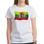 Wavy Lithuania Flag Women's T-Shirt