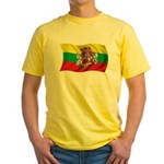 Wavy Lithuania Flag Yellow T-Shirt