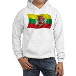 Wavy Lithuania Flag Hooded Sweatshirt