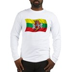 Wavy Lithuania Flag Long Sleeve T-Shirt