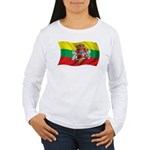 Wavy Lithuania Flag Women's Long Sleeve T-Shirt