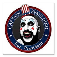 "Captain Spaulding for Pr Square Car Magnet 3"" x 3"""