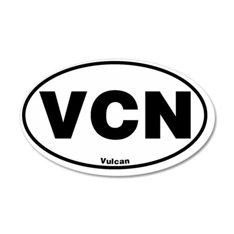 Euroval Vulcan 35x21 Oval Wall Decal