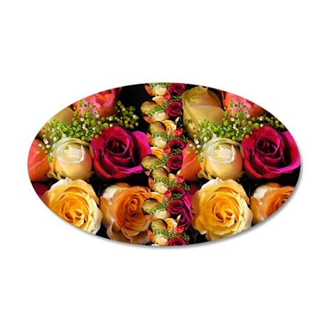 rose coin 35x21 Oval Wall Decal