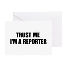 Trust Me, I'm A Reporter Greeting Cards (Package o