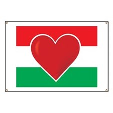 Heart Hungary Flag Banner