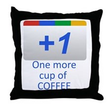 Plus 1 Coffee Throw Pillow