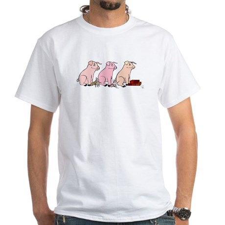 Three Little Pigs White T-Shirt