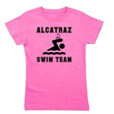 Alcatraz Swim Team Black Girl's Tee