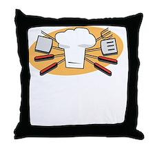 King Of Coals White Throw Pillow