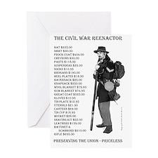Civil War Reenactor North.ps Greeting Card