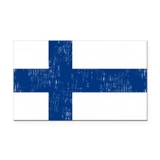 2000px-Flag_of_Finland Rectangle Car Magnet