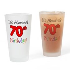Abuelitos 70th Birthday Drinking Glass