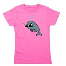 Narwhal Mustache Girl's Tee