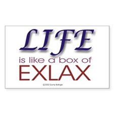 Box of Exlax Rectangle Decal