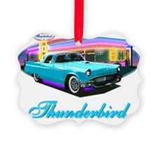 Thunderbird Diner Blue copy Ornament