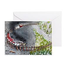 Downhill Run Greeting Card