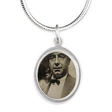 Nucky J Silver Oval Necklace