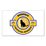 Burmese Herder Rectangle Decal