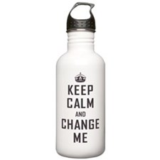 Keep Calm and Change M Water Bottle