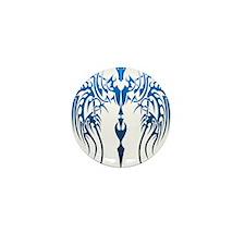 blue tribal dragon Mini Button