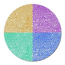 fingerprint Round Car Magnet