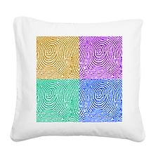 fingerprint Square Canvas Pillow