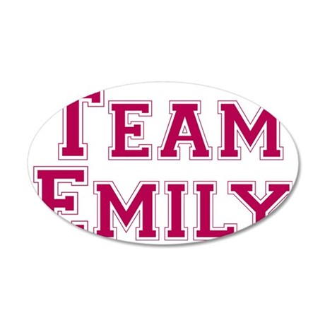 teamemily 35x21 Oval Wall Decal