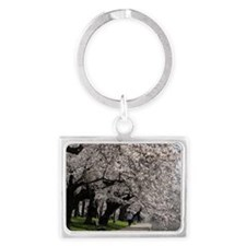 Cherry Blossom Peak Bloom Washi Landscape Keychain