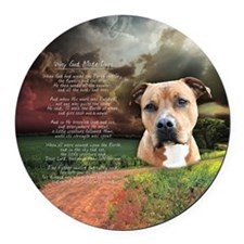 godmadedogs(button) Round Car Magnet