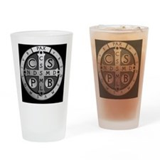BenedictMedal_ButtonLarge Drinking Glass