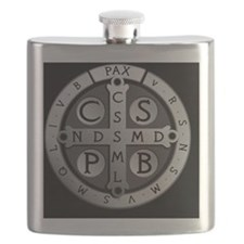 BenedictMedal_ButtonLarge Flask