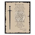 Warrior's Prayer Small Poster