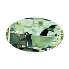 cp-wk-bathtub Oval Car Magnet