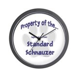 Schnauzer Property Wall Clock