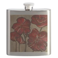 Poppy Art Flask
