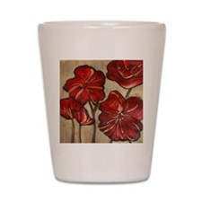 Poppy Art Shot Glass