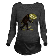 Big Foot Beer Drink  Long Sleeve Maternity T-Shirt