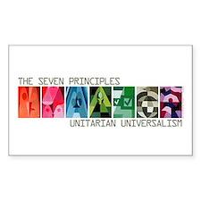 Rectangle Sticker - 7 UU Principles (Gen.)