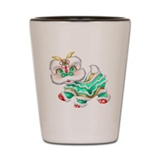 Dragon big green Shot Glass