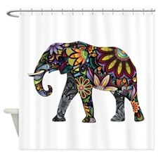 Colorful Elephant Shower Curtain