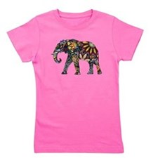 Colorful Elephant Girl's Tee